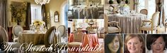 The Skirted  Roundtable.  One of my favorite blogs.  Elegant and completely inviting and comfortable.  Lush fabric, oh-la-la...