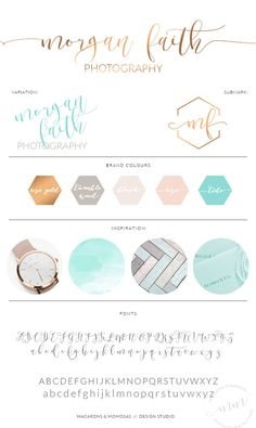 Teal Honeycomb Calligraphy Watercolor, Photography Branding Kit Logo Design, Rose Gold Blush, Premade Submark Watermark Stamp, 032 – My CMS Logo Branding, Logos, Artist Branding, Branding Design, Logo Design, Branding Ideas, Boutique Logo, Photography Branding, Photography Business