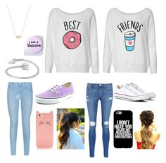""":{o"" by meganjl on Polyvore featuring beauty, Frame Denim, Converse, Vans, Kate Spade, 7 For All Mankind and Kendra Scott"