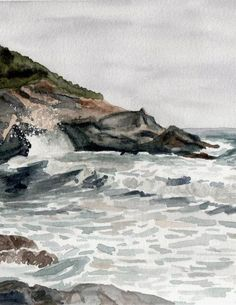 Plage de Giottani (Corse) | Aquarelle/ Watercolors (2005) (detail)
