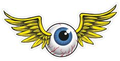 Point your peepers at this peeper! This die-cut 24-gauge steel Flying Eyeball sign is drilled and riveted for dangerously immediate gratification. $44.95