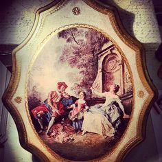 Italian Florentine plaque by shabbychatue on Etsy, $24.00