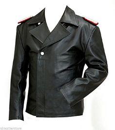 German Leather U Boat Kriegsmarine jacket BLACK - Panzer wrap style - German leather coats Lambskin Leather, Black Leather, Vintage Leather Jacket, Leather Jackets, Cafe Racer Jacket, Leather Trench Coat, Leather Coats, British Uniforms, Leather Dresses