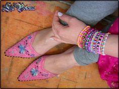 https://flic.kr/p/Q7EfJz | Jaisalmer bracelet set | Colorful stretch bracelets by La Polena.  www.LaPolena.etsy.com