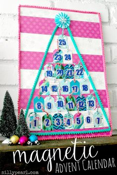 Bright and Cheery Magnetic Advent Calendar