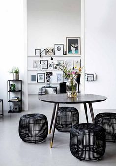 Awesome Modern stool black from House Doctor. Combine this stool with your favorite House Doctor furniture. Interior Exterior, Home Interior, Interior Architecture, Interior Decorating, Decoration Inspiration, Interior Design Inspiration, Room Inspiration, Decor Ideas, Room Ideas