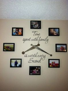 family diy picture frame clock hubby custom made the clock hands out of wood