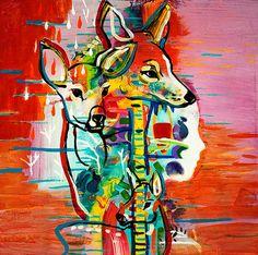 "Saatchi Art Artist Randi Antonsen; Painting, ""Living Together III"" #art"