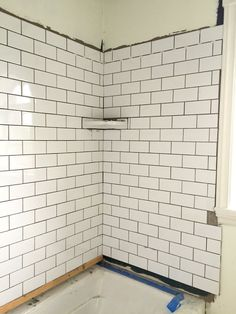 Tiling Kit's Bathroom at Black Feather Farm - The Ugly Duckling House