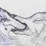 'Dark Wolf/Light Wolf' cuff by Toni Dowd