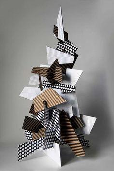 Best Wishes by Paprika , via Behance Cardboard Sculpture, Cardboard Crafts, Paper Crafts, Sculpture Projects, Art Projects, Abstract Sculpture, Sculpture Art, Recycled Art, Art Classroom