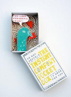 The Instant Comfort Pocket Box - bird in love