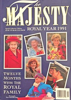 Majesty Magazine Royal Year 1991 Special Collectors' Edition Diana Fergie
