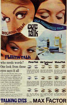 vintage 60's makeup. talking eyes by max factor.