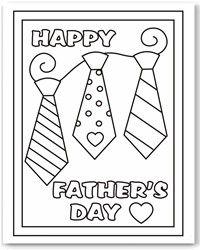 Dia del Padre: tarjetas para imprimir y colorear
