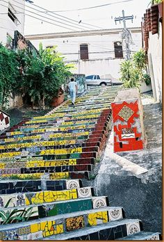 In Rio de Janeiro…in an area called Santa Teresa…in a hidden alley  is a masterpiece of sorts