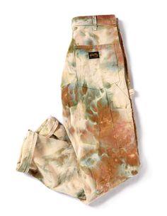 Bleach Tie Dye Discover Painters Pants in Ivory Look Fashion, Diy Fashion, Ideias Fashion, Fashion Outfits, Fashion Design, Fashion Pants, Tie Dye Fashion, Fashion Details, Unique Fashion