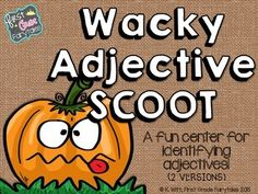 Looking for a fun way to reinforce your study of adjectives?This fall themed SCOOT game is perfect for a whole group activity, or for use in a literacy center where students can independently practice identifying adjectives.There are two versions available: 1- SCOOT sentences have students reading a single sentence and identifying the adjective within it2 - Task cards with sentences and multiple choice answers to assist your learners in identifying adjectivesDirections for playing SCOOT, as…