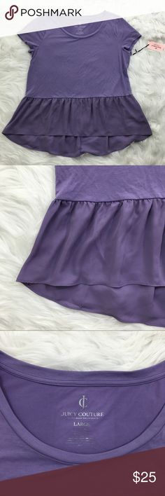 Purple Peplum Gorgeous purple peplum from Juicy Couture. Juicy Couture Tops