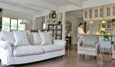 This looks like the most comfortable sofa !!            farmhouse living room by Kimberley Bryan