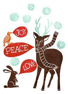 Joy Peace Love illustration by Geninne