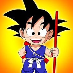 Goku Kid : Available as Cards, Prints, Posters, T-Shirts & Hoodies, Kids Clothes, Stickers, iPhone & iPod Cases, and iPad Cases