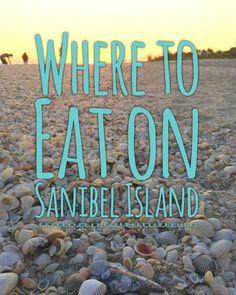 Where to Eat on Sanibel Island and Captiva Island, Florida. Restaurants, ice cream and more! Visit Florida, Florida Vacation, Florida Travel, Vacation Spots, Vacation Ideas, Florida Trips, Honeymoon Island Florida, Marco Island Florida, Fort Myers Florida