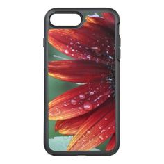 Red Sunflower Petals And Rain Drops OtterBox Symmetry iPhone 8 Plus/7 Plus Case - flowers floral flower design unique style