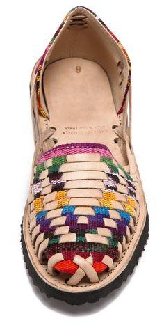 38a564e10da0 ONE by Ix Style Woven Leather Huarache Flats   SHOPBOP Полусапожки, Сумка  Для Обуви,