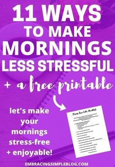 Do your mornings feel chaotic? They don't have to be that way! Click to read…