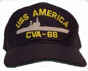 USS America CVA 66 Cap Navy Military, Military Gifts, Military Humor, Us Navy Aircraft, Navy Aircraft Carrier, Go Navy, Navy Blue, Uss Enterprise Cvn 65, Uss America