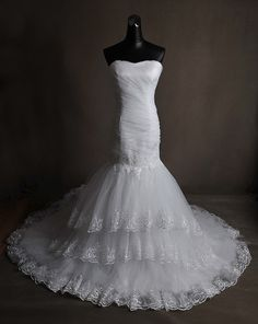 new style mermaid wedding dress-nuovo modello abito da sposa a sirena