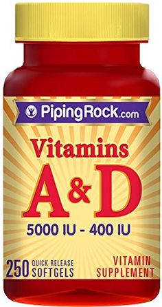 Vitamin A and D3 A-5000 IU D-400 IU 5,000/400 IU 250 Softgels ** More info could be found at the image url.