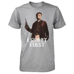 "Nathan Fillion's ""I Shoot First"" Charity Tee 