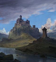 FFG: Game of Thrones - Ashemark, Alfred Khamidullin on ArtStation at https://www.artstation.com/artwork/qnxDL