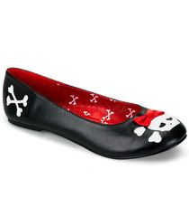 Funtasma Black Crossbones Flats | PUNK-14