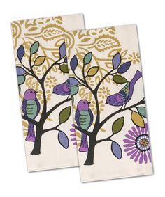 Bird Bliss Tea Towel   Set Of Two