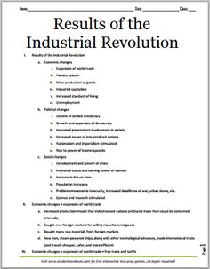 american industrial revolution essay questions Essay on the industrial revolution final project from the beginning of the industrial revolution to the present day, the structure and culture of the american.