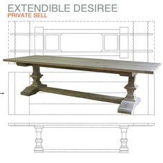 Desiree extendable farmhouse table