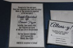 Dr Who Wedding Invitations Dr Who Inspired by Scrappingoodtimes