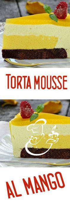 TORTA MOUSSE AL MANGO (senza glutine)