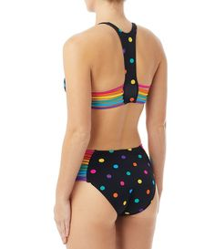 e8a986110b839 Coco Rave Twister Whitney High Neck Bikini Top & Lisa Strappy High Waist Bikini  Swimsuit Bottom