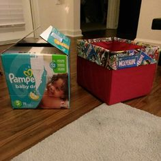 Diaper box #upcycling. Super Hero Room Storage