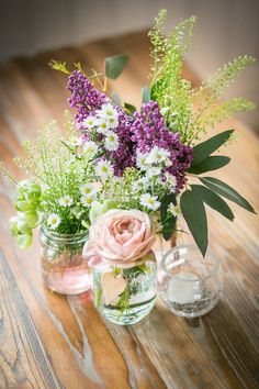 Pretty simple rustic flower arrangement