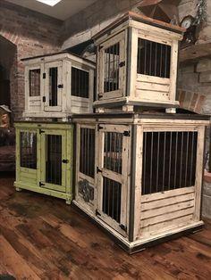 Plans for dog house lovely handcrafted dog kennel and dog crate custom dog Custom Dog Kennel, Wooden Dog Kennels, Dog Kennel Designs, Diy Dog Kennel, Indoor Dog Kennels, Building A Dog Kennel, Luxury Dog Kennels, Dog Crate Furniture, Farmhouse Furniture