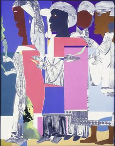 Romare Bearden, collage, Palm Sunday Procession, 1967-1968