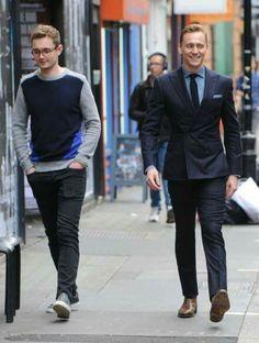Tom Hiddleston with Luke Windsor on 9/3/15