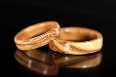 Bethlehem Olive Wood Wooden Rings (Bentwood)