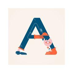 Alphabets by Vesa Sammalisto, via Behance. Remember, that humor is a great design tool1—Prof. Zeller