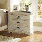 Found it at Wayfair - Willow 3 Drawer Nightstand Sizing is good, again not sure of back. @ $300